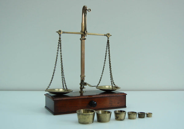 Early Victorian Set of Apothecary Scales
