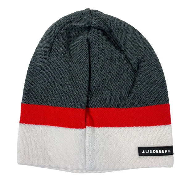 J Lindeberg Men's Block Hat Logo Wool - GREY