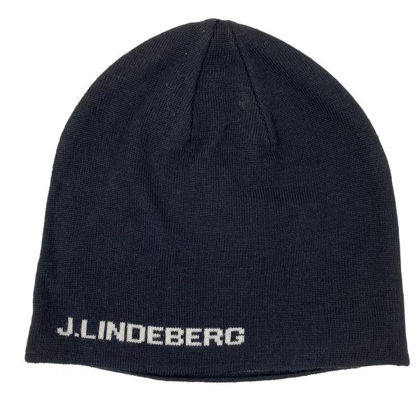 J Lindeberg Men's Aello Hat Merino Wool - BLACK