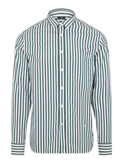 J.LINDEBERG MENS DAVID CL-POP STRIPE SHIRT - FOUNTAIN