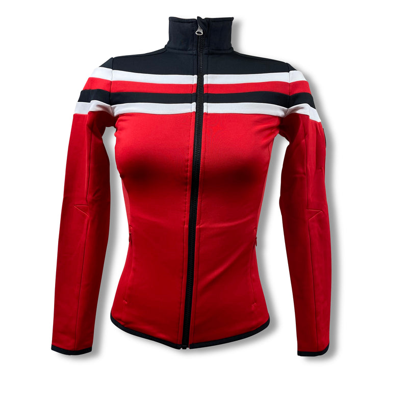 J Lindeberg Women's W Jarvis Block Jacket Fields. MD - RED INTENSE