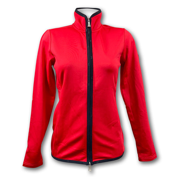 J Lindeberg Women's W Huxley Jacket Tech Jersey - RED INTENSE