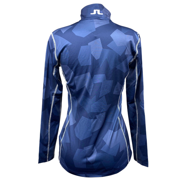 J Lindeberg Women's W Alaska Base Top QD Camo Jacket - NAVY CAMO
