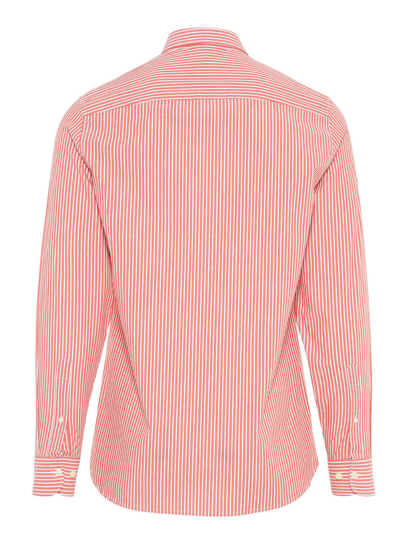 J.LINDEBERG MENS DANIEL CBU-POP STR STRIPE SHIRT - RACING RED