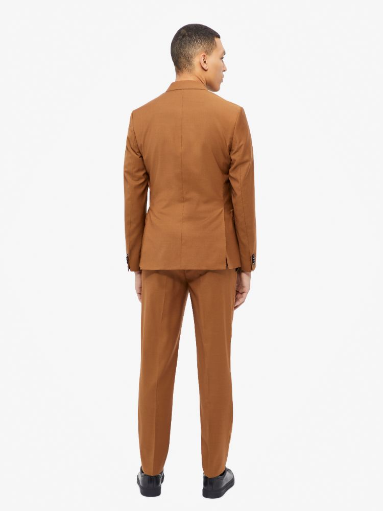 J Lindeberg Men's Hopper Soft Comfort Wool Blazer - GLAZED GINGER