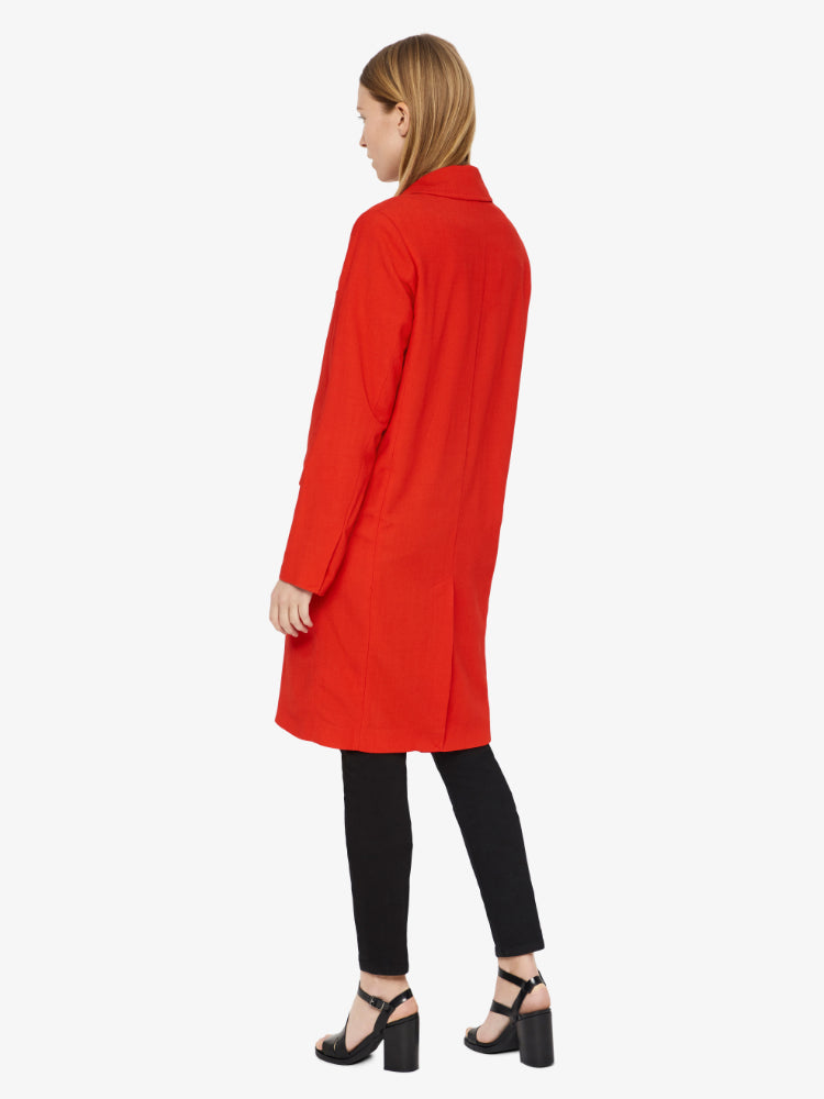 J Lindeberg Women's Laya Twill Spring Coat - RACING RED