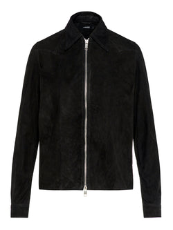J Lindeberg Women's Irene Light Suede Jacket - BLACK