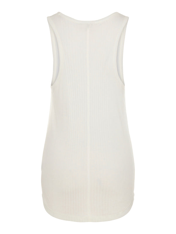 J Lindeberg Women's Ceres Silky Rib Tank Top - OFF WHITE