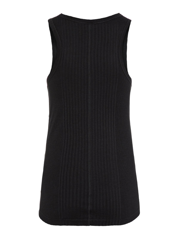 J Lindeberg Women's Ceres Silky Rib Tank Top - BLACK
