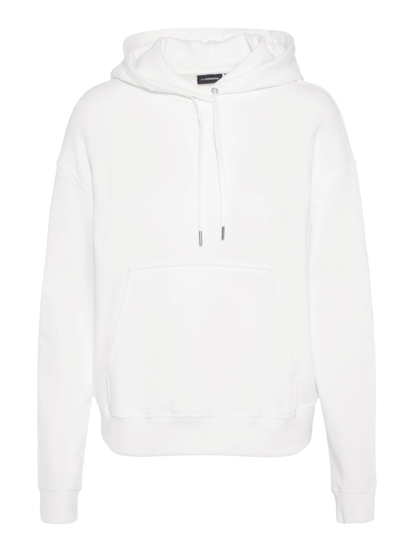 J Lindeberg Women's Athleisure Compton Stitched Sweat Shirt Hoodie - WHITE