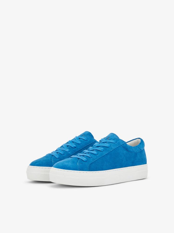 J Lindeberg Women's Low Lace Suede Sneakers - WONDER BLUE