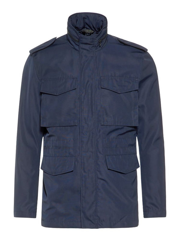 J Lindeberg Men's Willow Poly Canvas Jacket - JL NAVY