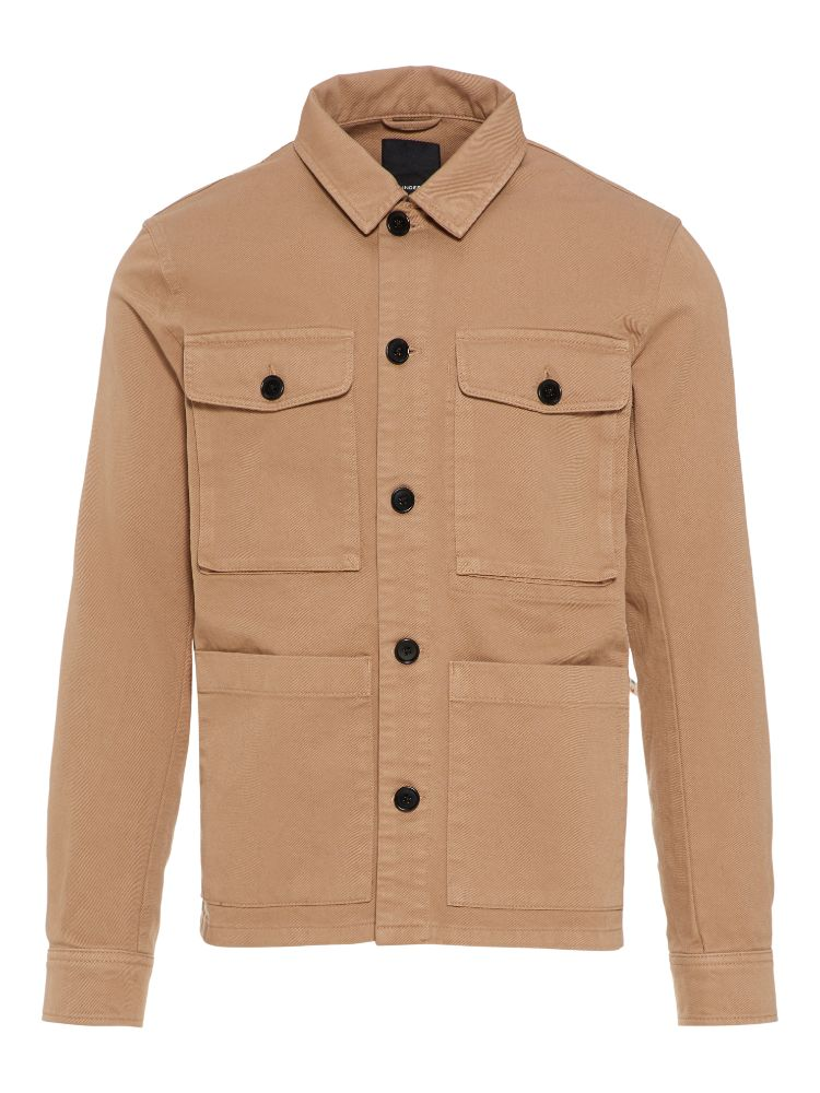 J Lindeberg Men's Shade Work Cotton Jacket - WOODSMOKE