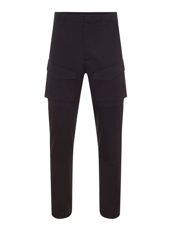 J Lindeberg Men's Mike Cargo Travel Cotton Trousers - BLACK