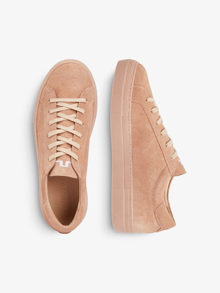 J Lindeberg Women's Low Lace Suede Sneakers - SUMMER BEIGE