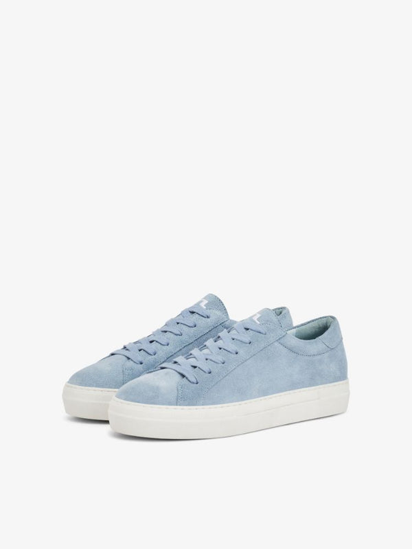 J Lindeberg Women's Low Lace Suede Sneakers - ICE FLOW