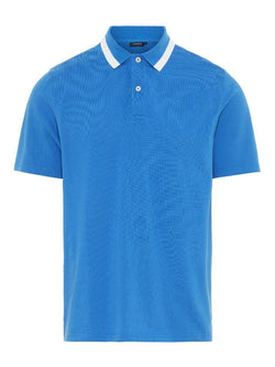 J Lindeberg Men's Theo Pique Polo Shirt  - WORK BLUE