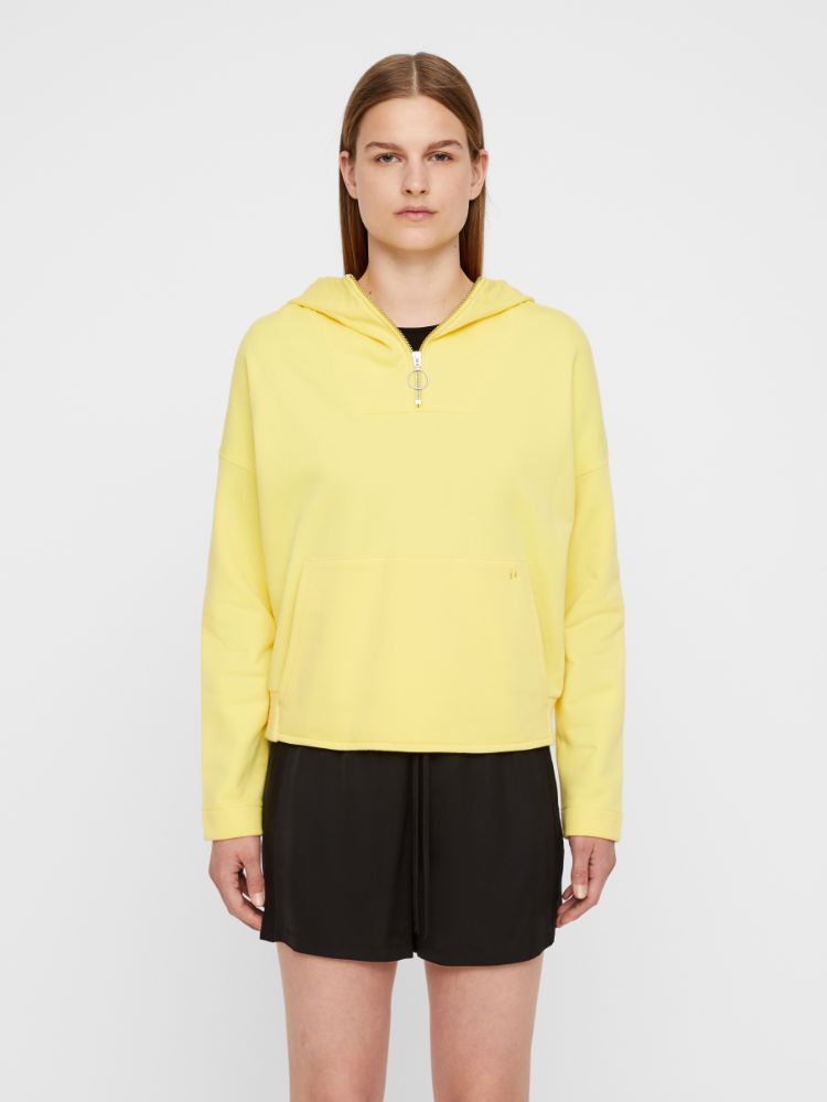 J Lindeberg Women's ALIGHThea Ring Loop Sweatshirt - BUTTER YELLOW