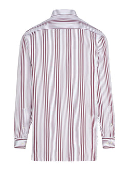 J.LINDEBERG MENS DYLAN POP STRIPE SHIRT - WHITE