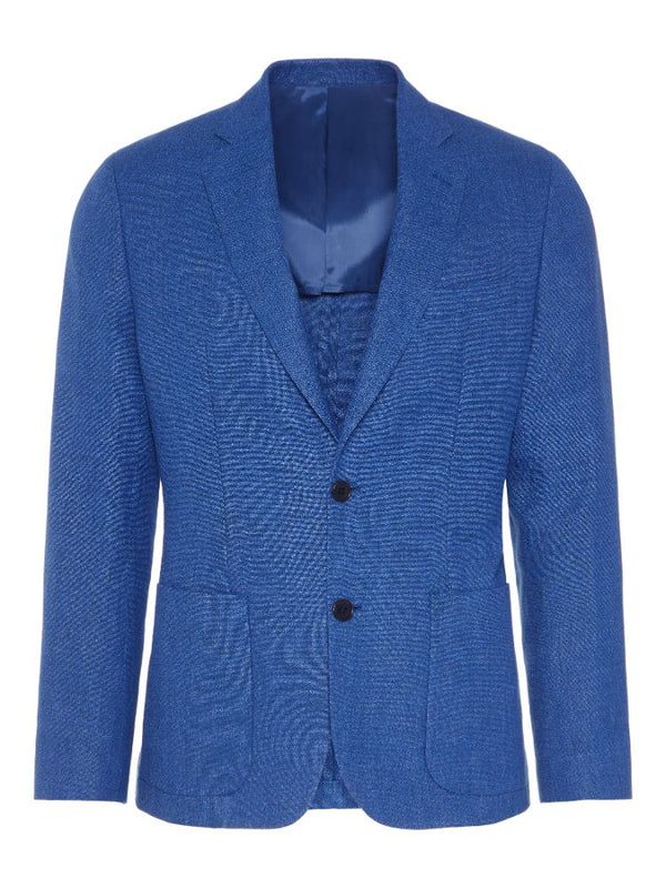 J Lindeberg Men's Hopper PP UNC-Spring Boucle Blazer - WORK BLUE