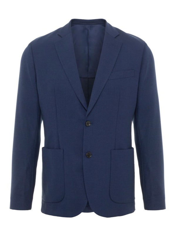 J Lindeberg Men's Hopper PP UNC-Tech Travel Blazer - JL NAVY