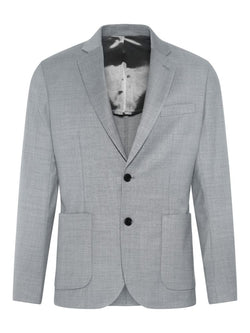 J Lindeberg Men's Hopper PP UNC-Tech Travel Blazer - GREY MELANGE