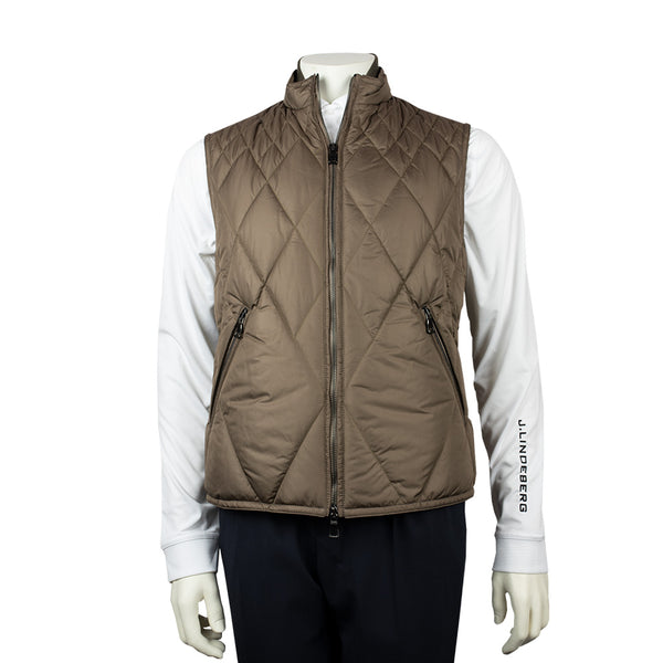 WATERVILLE MENS FRANCIS QUILTED VEST - COPPER