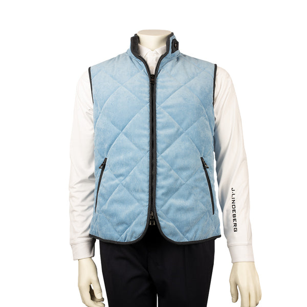 WATERVILLE MENS THEO QUILTED TECH VEST - BABY BLUE