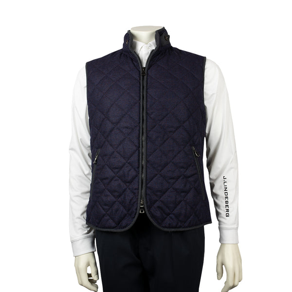 WATERVILLE MENS THEO QUILTED TECH VEST - PURPLE