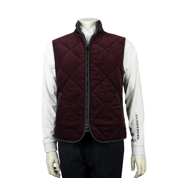 WATERVILLE MENS THEO QUILTED TECH VEST - WINE