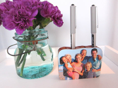 Mahogany Photo Pencil Holder