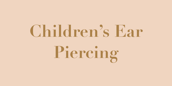 Children's Ear Piercing Header