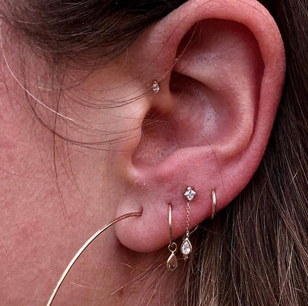 Earlobe Piercings