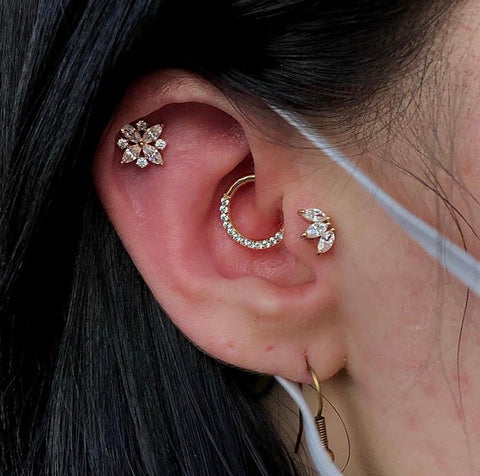 Kristina Outland Ear Piercings