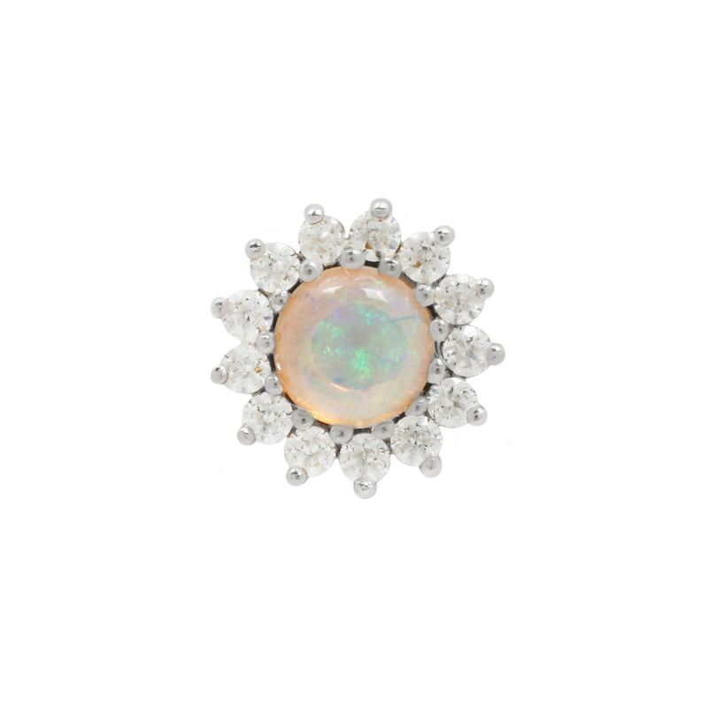 genuine opal flower jewelry