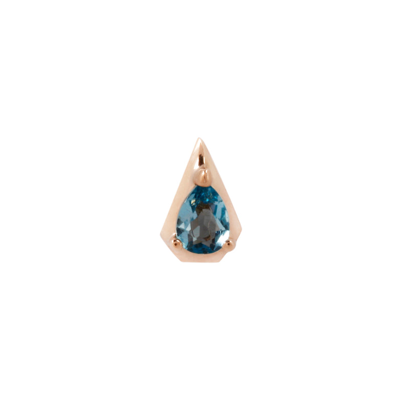Rose gold Alaia with London Blue Topaz by Buddha Jewelry