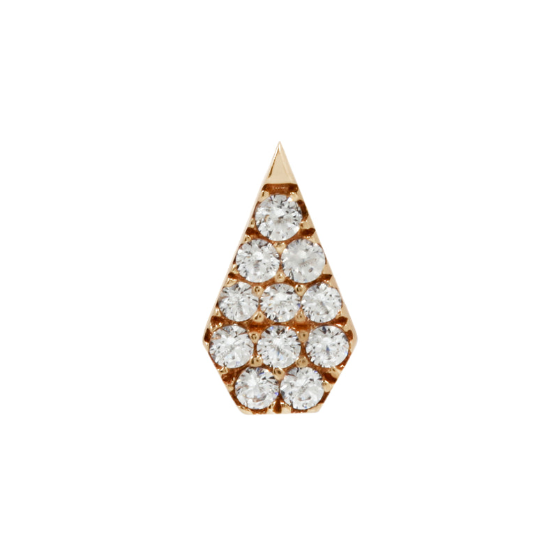 Yellow gold couture CZ by Buddha Jewelry