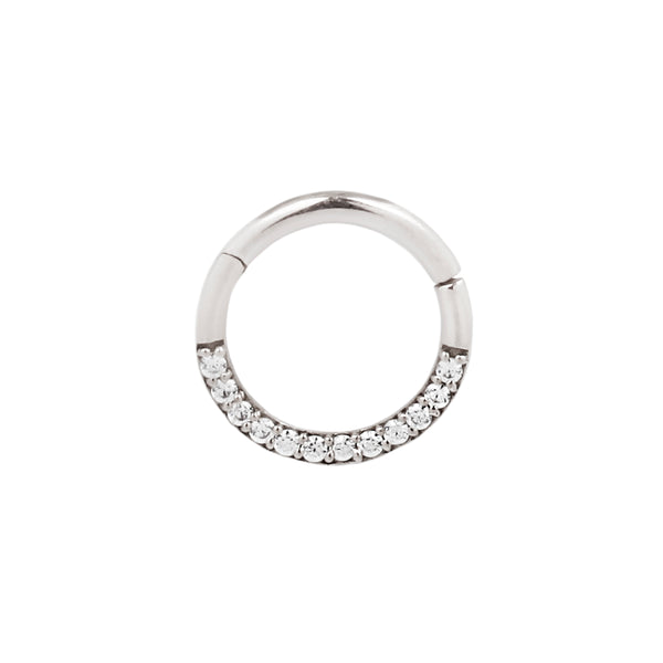 Septum Ring with Genuine Diamonds