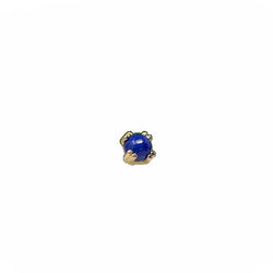 BVLA Threadless Prong Cabochon Lapis Yellow Gold