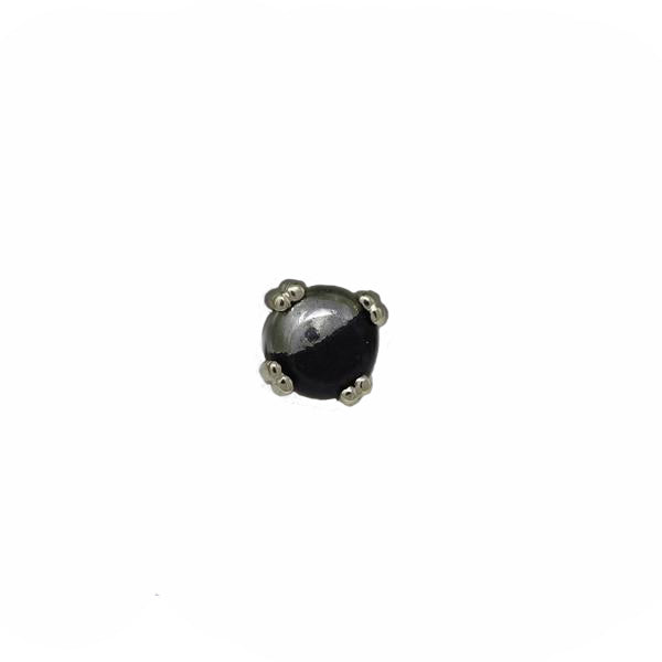 BVLA Threadless Prong Cabochon Pyrite Yellow Gold 4.0 mm