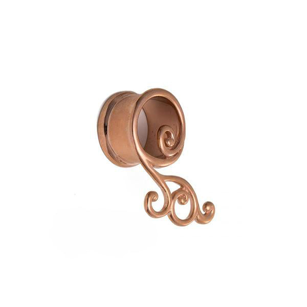 Rose Gold Haning Plug for Stretched Ears