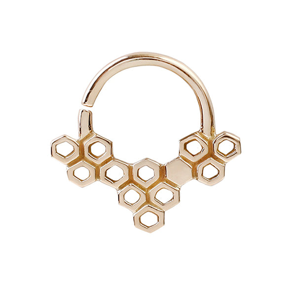 Rose Gold Seamless Ring for Piercings