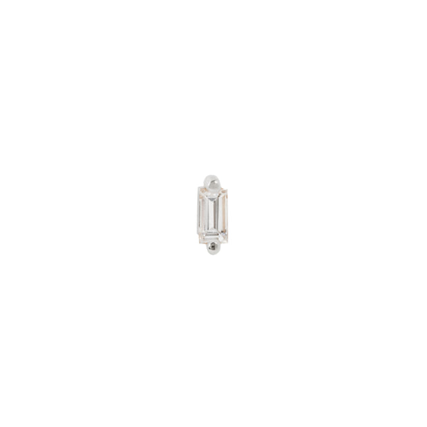 Buddha Threadless Paris Prong Baguette Genuine Diamond