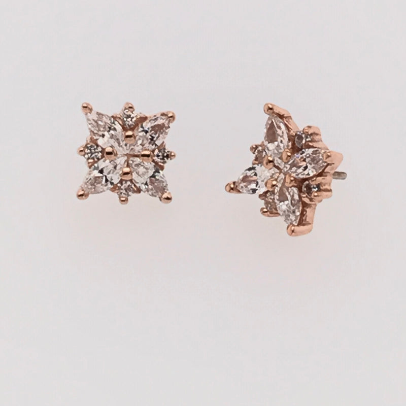 BVLA Threadless Mini Pleades CZ Marquise w/ CZ