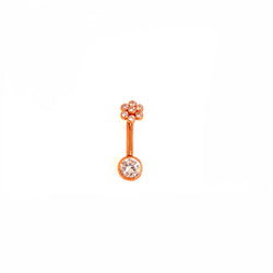 Maria Tash Flower L-Bar CZ Rose Gold 12g 3/8'' x 1/8''