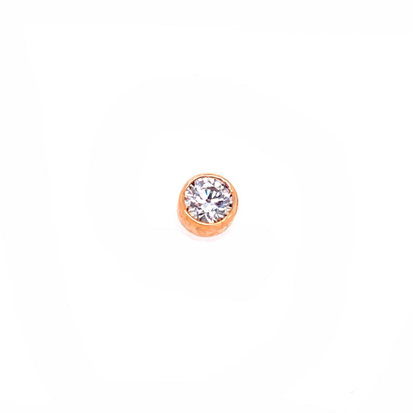 Anatometal Threadless Bezel Gem CZ Rose Gold