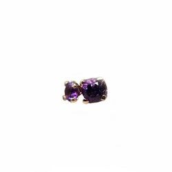 BVLA Threadless Prong Gem Amethyst Rose Gold