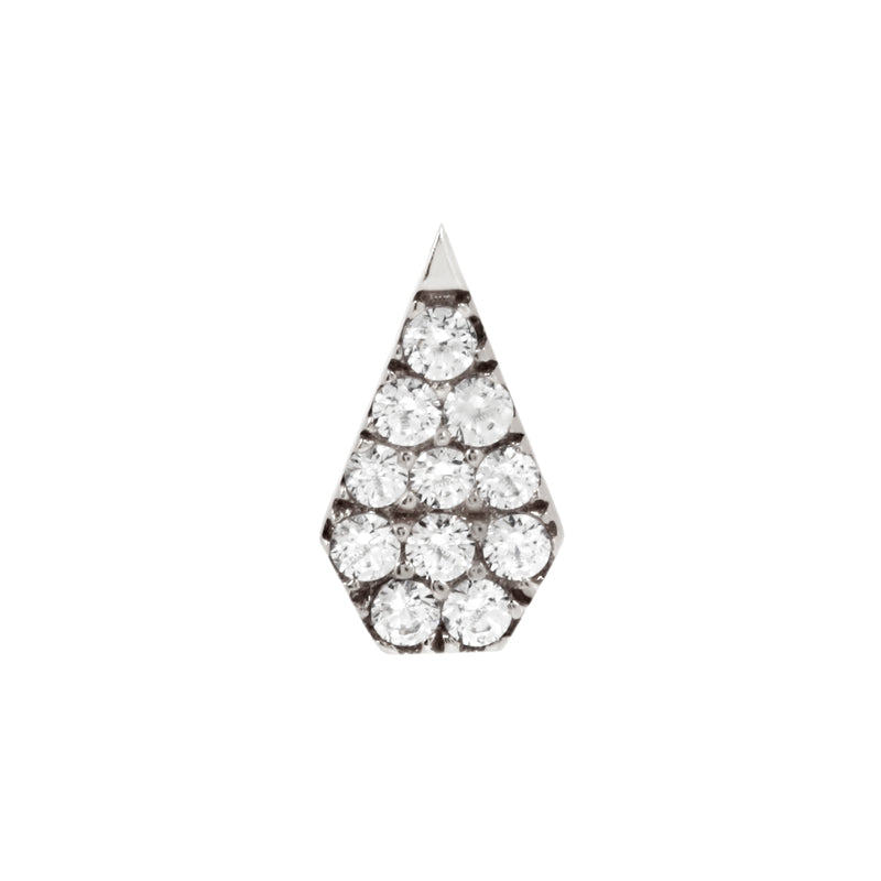 White gold couture CZ by Buddha Jewelry