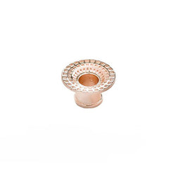 Textured Rose Gold Eyelet for Sretched Ears