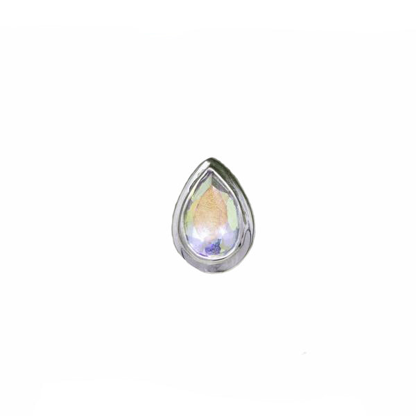 BVLA Threadless Bezel Cabochon Pear Mercury Mist Topaz 5.0 mm x 3.0 mm